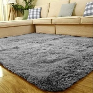 Super Soft Indoor Modern Shag Area Silky Smooth Fur Rugs