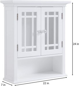 Neal Collection Shelved Wall Cabinet with Doors