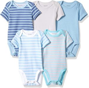 Hanes Ultimate Baby Flexy Short Sleeve Bodysuits