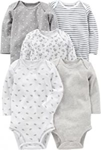 Onesies - Simple Joys by Carter's Baby 5-Pack Long-Sleeve Bodysuit