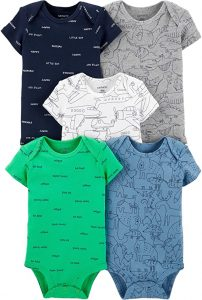Carter's Baby Boys Original Short Sleeve Bodysuits