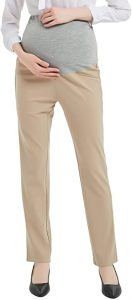 Bhome Maternity Jeans Stretch High Waisted Office Pants
