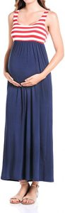 Beachcoco Women's Maternity Knee Length Tank Dress