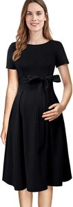 VFSHOW Womens Mama Maternity Nursing  A-Line Dress