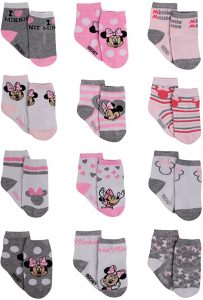 Disney Baby Girls Minnie Mouse Charachter Design Socks