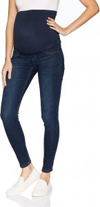 Women's Maternity Indigo Blue French Terry Secret Fit Belly Denim