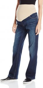 Women's Maternity Bootcut Denim with Neutral Belly Band
