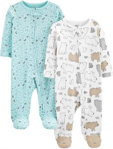 Carter's Baby 2-Pack Cotton Footed Sleep and Play