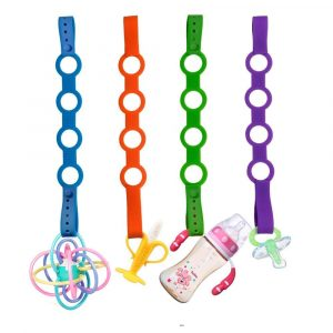 Stretchable Silicone Pacifier Clips Baby Toddler Bottle Toy Harness